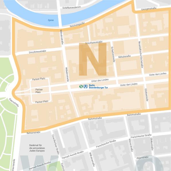 Karte Nordareal Wilhelmstraße Berlin