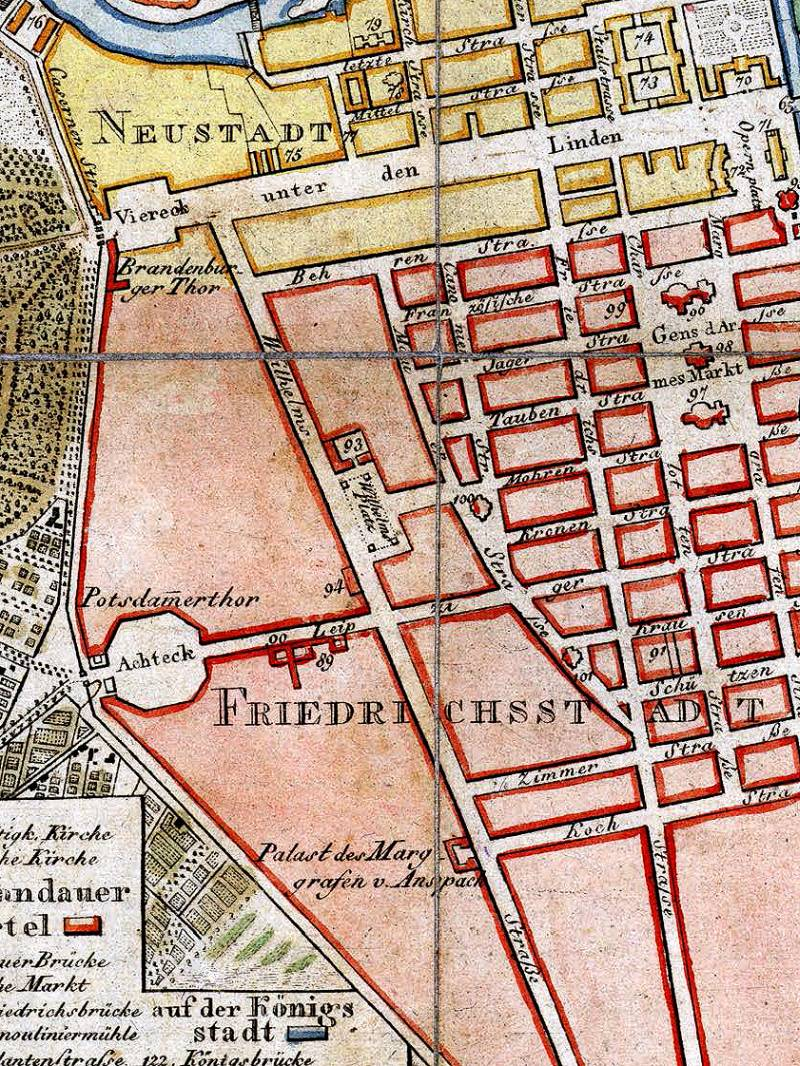 Berlin Wilhelmstraße Stadtplan 1798