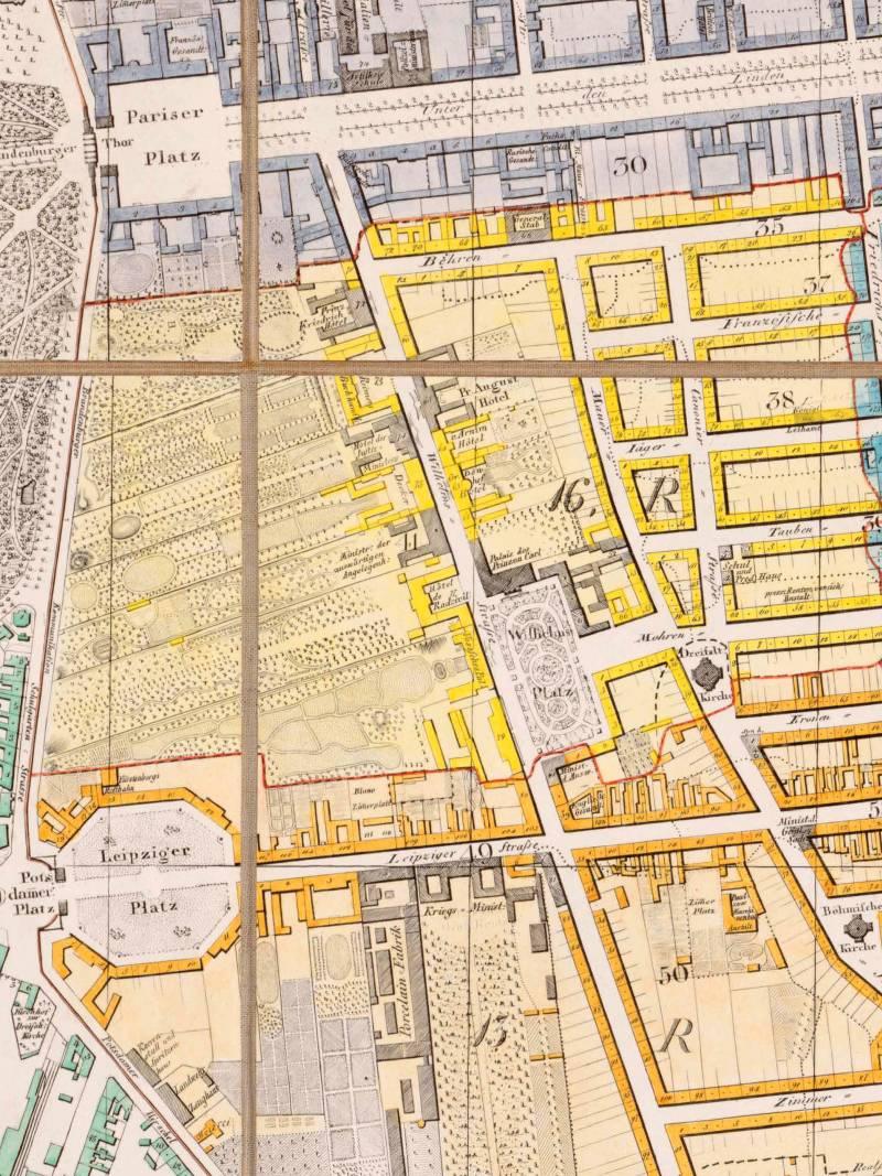 Grundriss von Berlin, 1846, Ausschnitt