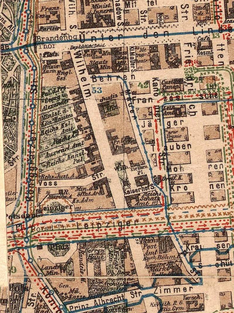 Berlin, Stadtplan 1900