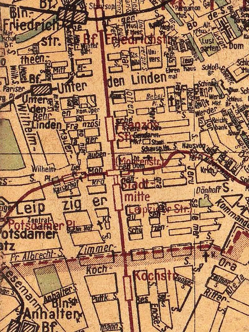 Berlin, Stadtplan 1947