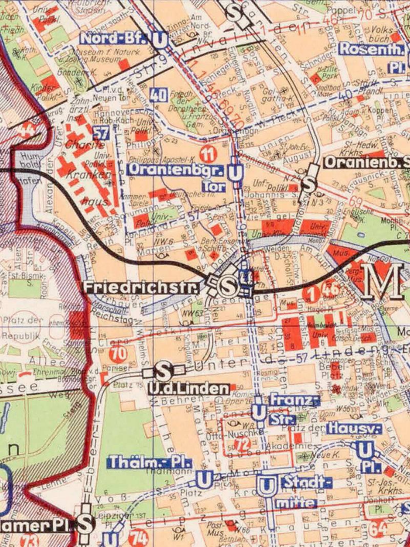 Berlin, Stadtplan 1960