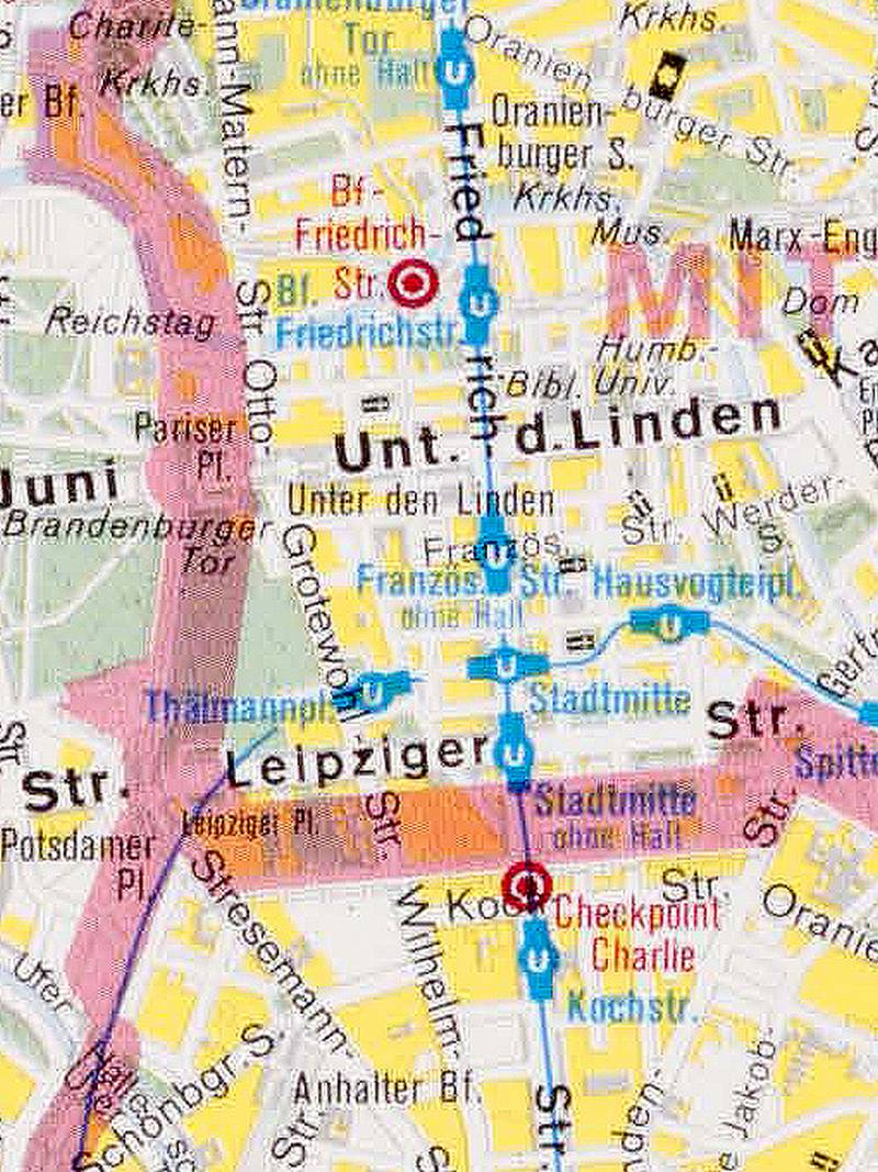 Berlin, Stadtplan 1978