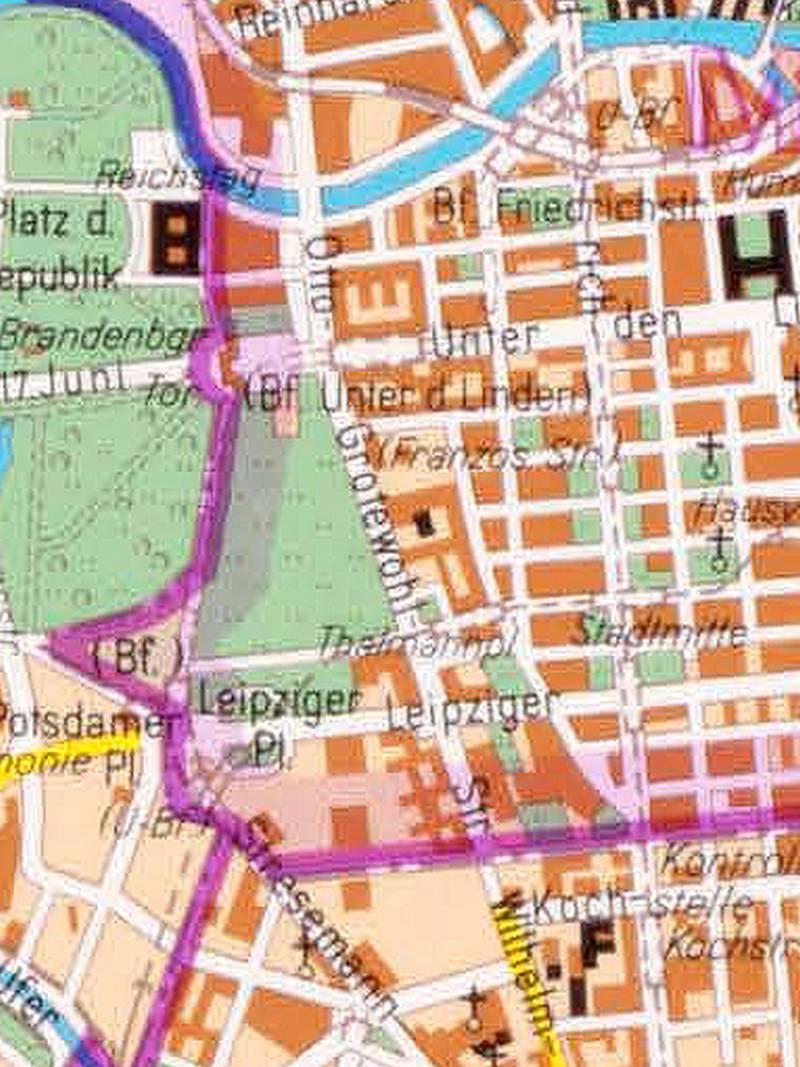 Berlin, Stadtplan 1985