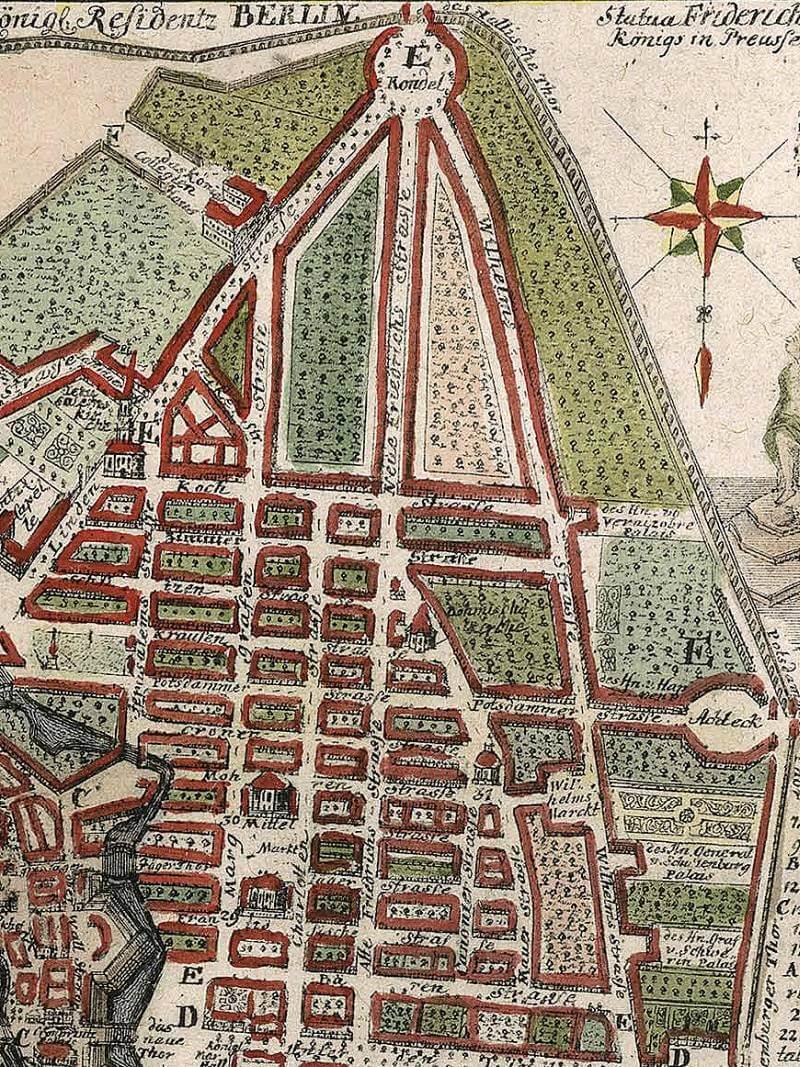 Historische Zeichnung Berlin Wilhelmstraße