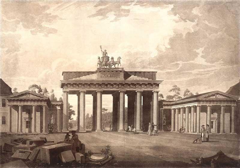Brandenburger Tor, Berlin, perspektivische Ansicht