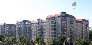DDR Plattenbauten Fassadenansicht