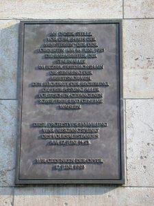 Gedenktafel am Bundesministerium der Finanzen, Detlev-Rohwedder-Haus