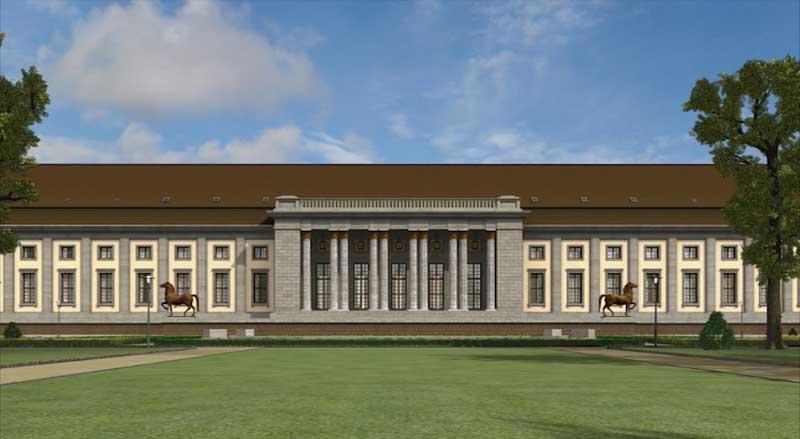 Die Gartenfassade der Neuen Reichskanzlei
