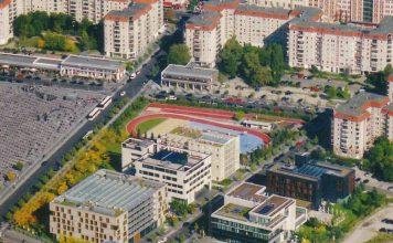 Luftbild vom Ensemble Ministergärten