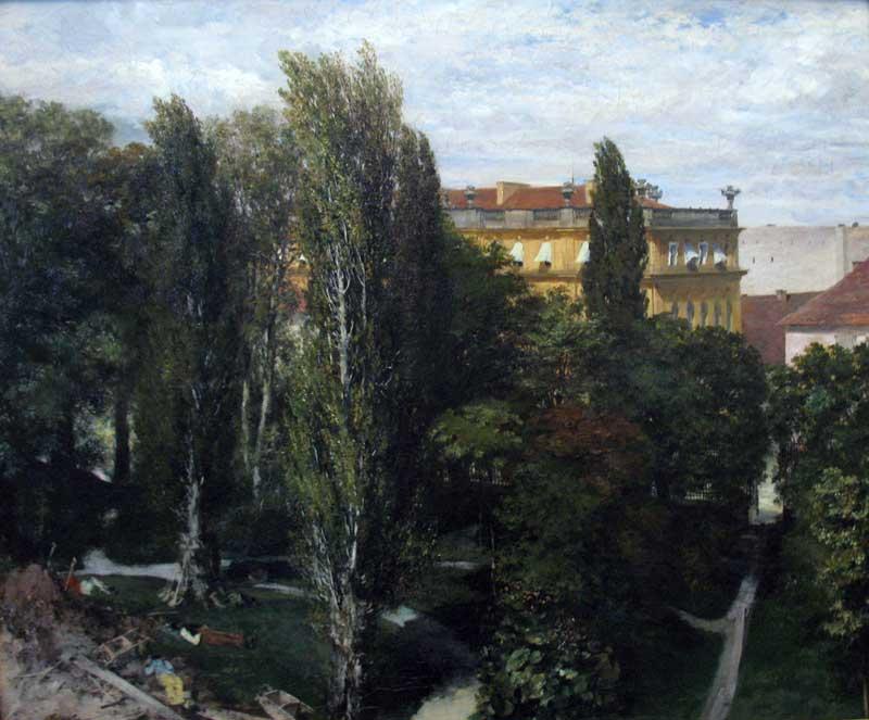 Blick in den Palaisgarten des Prinzen Albrecht 1846
