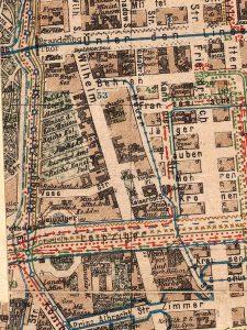Großer Verkehrs-Plan von Berlin mit seinen Vororten, Berlin, Liebel 1900