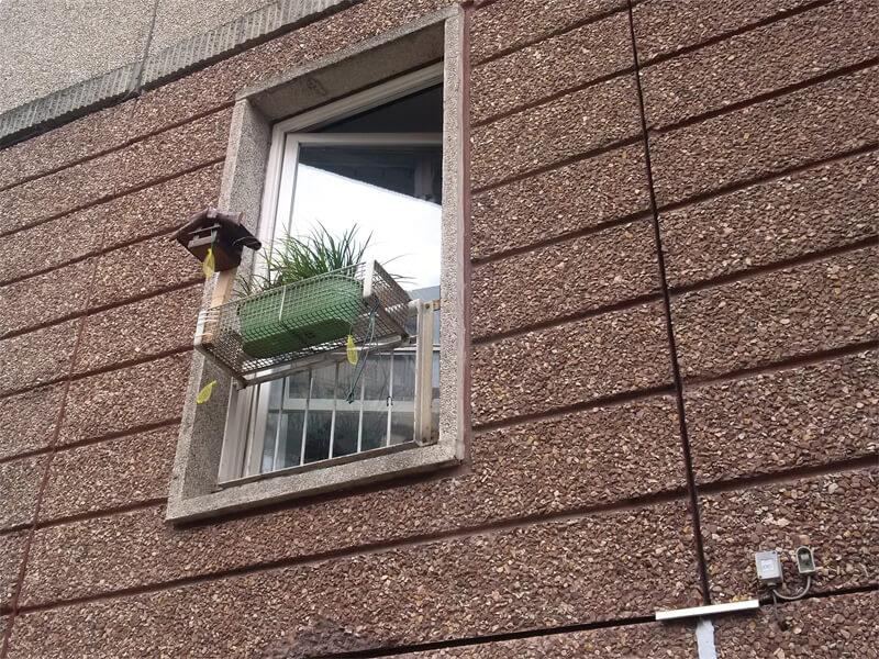 Fenster in Plattenbaufassade