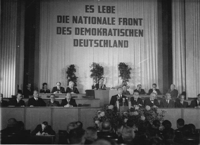 """Verabschiedung des Manifests """"Die Nationale Front des demokratischen Deutschland"""""""