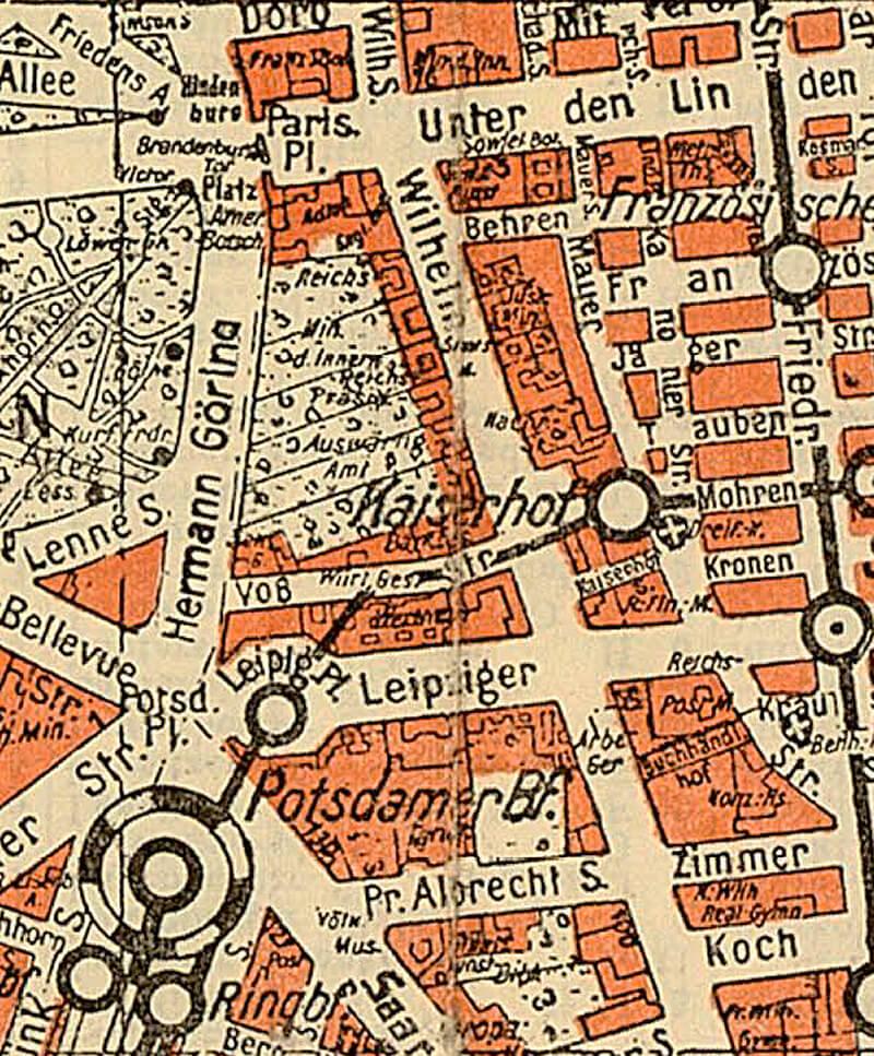 Silva-Stadtplan Berlin, 1937