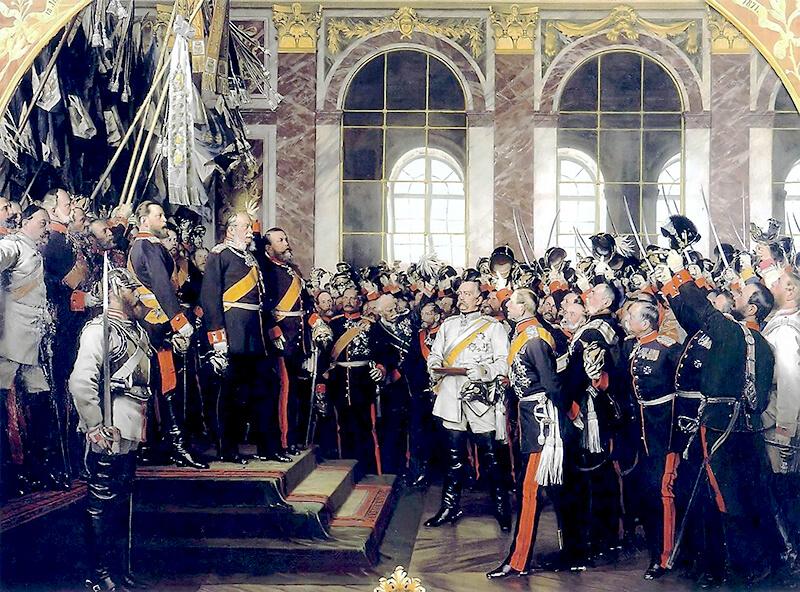 Die Proklamation des Deutschen Reiches,