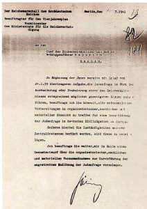 Juli 1941, Brief Görings an Heydrich