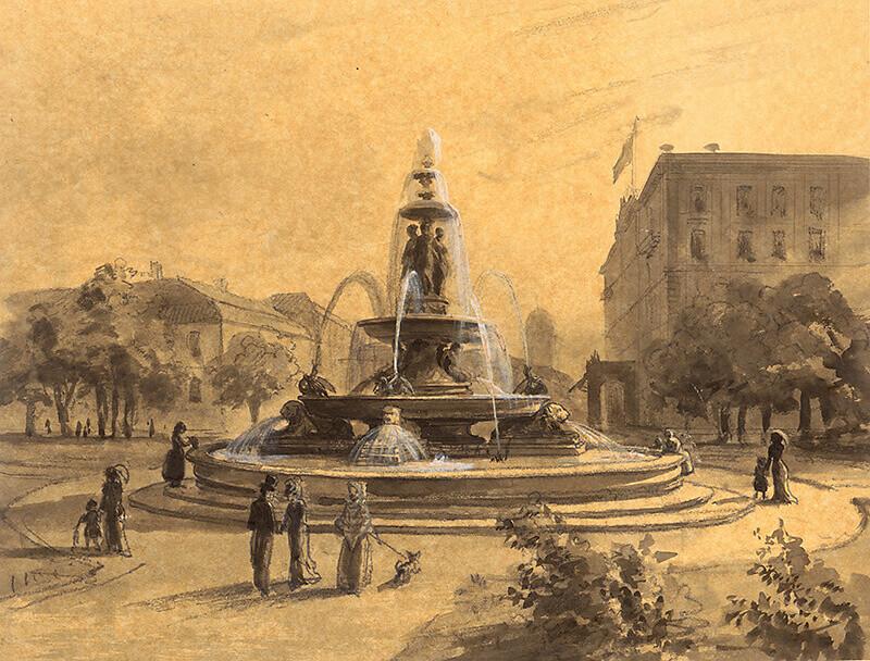 Brunnen für den Wilhelmplatz, 1879