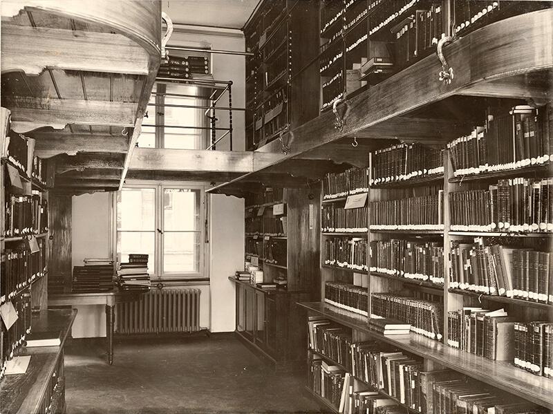 Dienstgebäude für das Preußische Staatsministerium, Berlin, Innenansicht Bibliothek