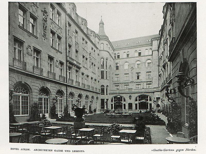 Hotel Adlon, Goethe-Garten gen Norden