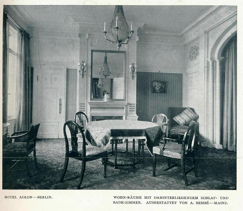 Hotel Adlon, Inneneinrichtung