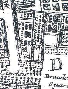 Perspektivische Lageplanzeichnung des Palais Kameke