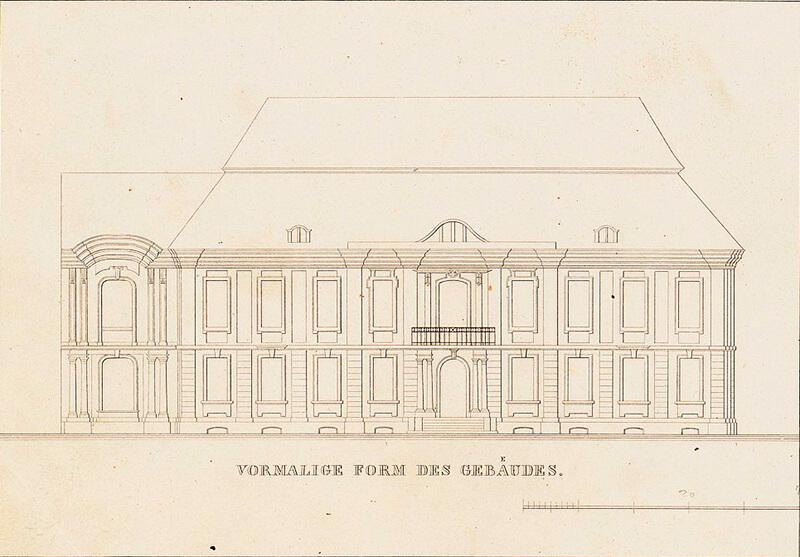 Detail der Fassade des Palais Kamecke