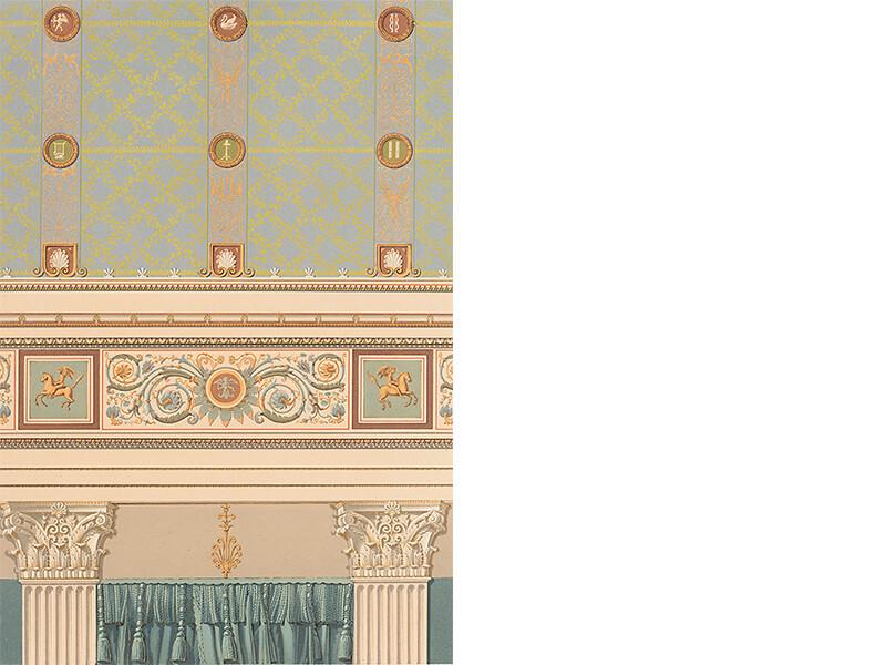 Palais Redern, Dekoration eines gewölbten Saales