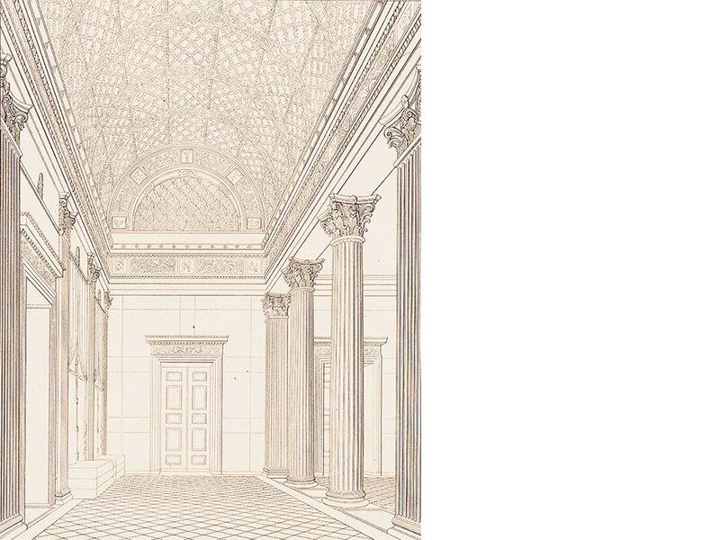 Palais Redern, Perspektivische Innenansicht