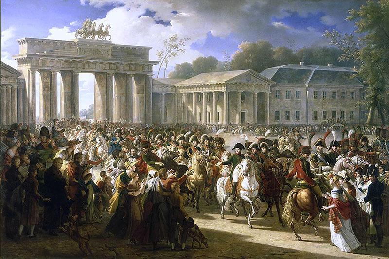 Einzug Napoleons an der Spitze seiner Truppen durch das Brandenburger Tor