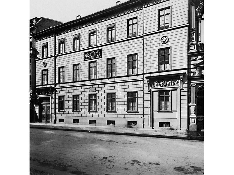 Das Schadowhaus um 1900
