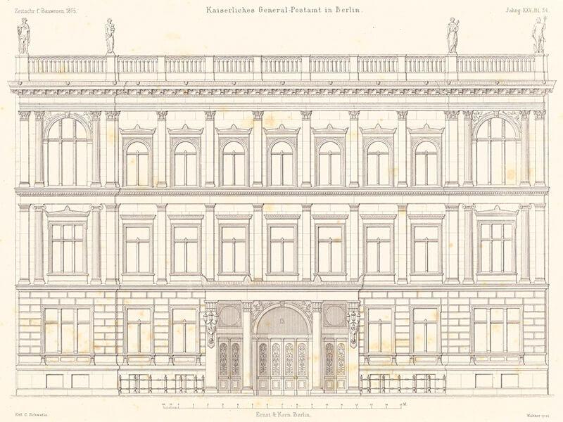 Kaiserliches Generalpostamt, Berlin.