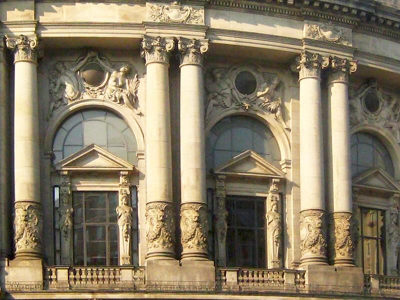 Museum für Kommunikation, Berlin, Detail der Fassade