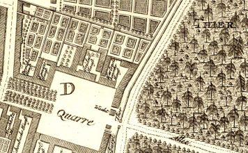 Stadtplan von Berlin (Ausschnitt) ca. 1750