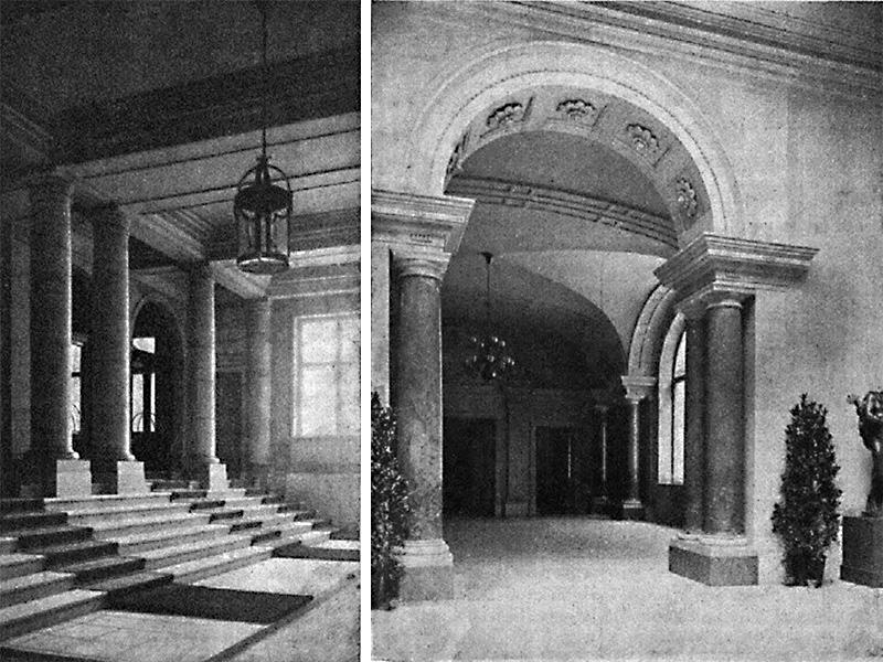 Akademie der Künste, Eingangs- und Verbindungshalle 1905