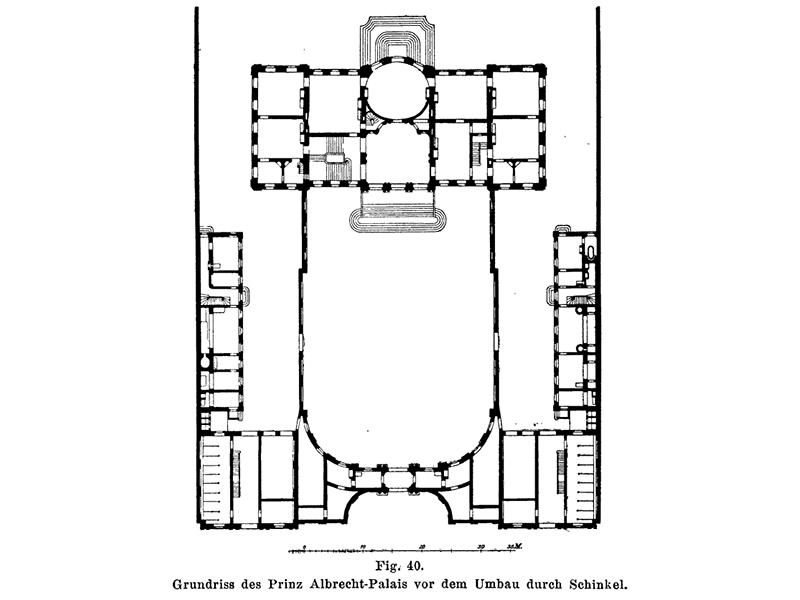 Grundriss des Prinz-Albrecht-Palais vor dem Umbau durch Schinkel