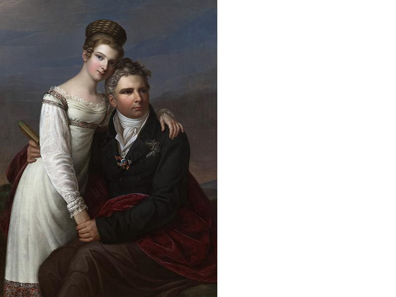 Luise Friederike von Preußen und Graf Anton Radziwiłł als junges Paar