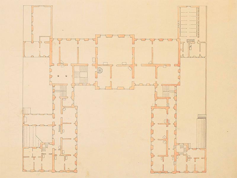 Palais Fürst Radziwill (ehem. Palais Schulenburg), Grundriss Erdgeschoss