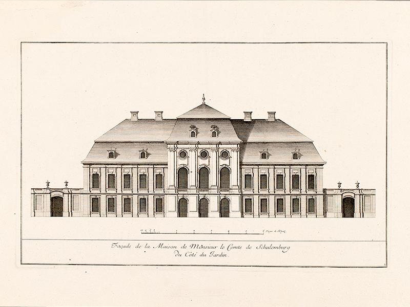 Facade de Palais Schulenburg - Gartenfront,