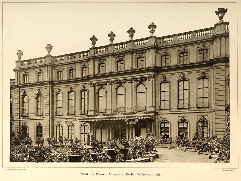Wilhelmstraße 102. Palast des Prinzen Albrecht Berlin, 1890