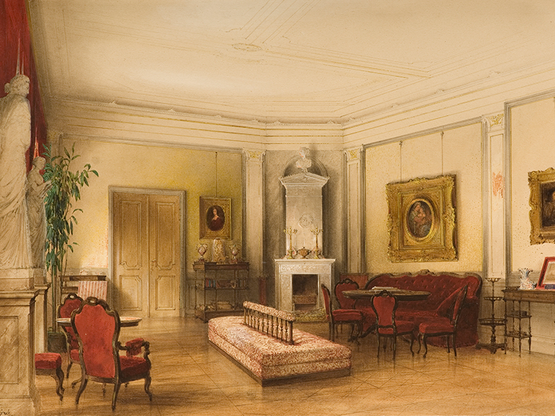 Wohnzimmer im Palais Wilhelmstraße 76, ehem. Palais Panewitz, Ministerium für Auswärtige Angelegenheiten