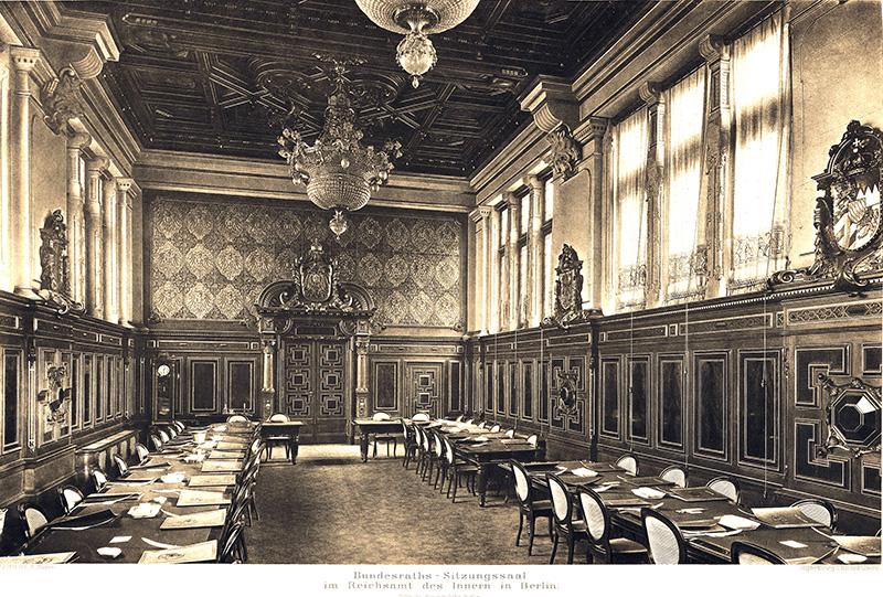 Bundesratsitzungssaal im Reichsamt des Inneren, Berlin Innenansicht