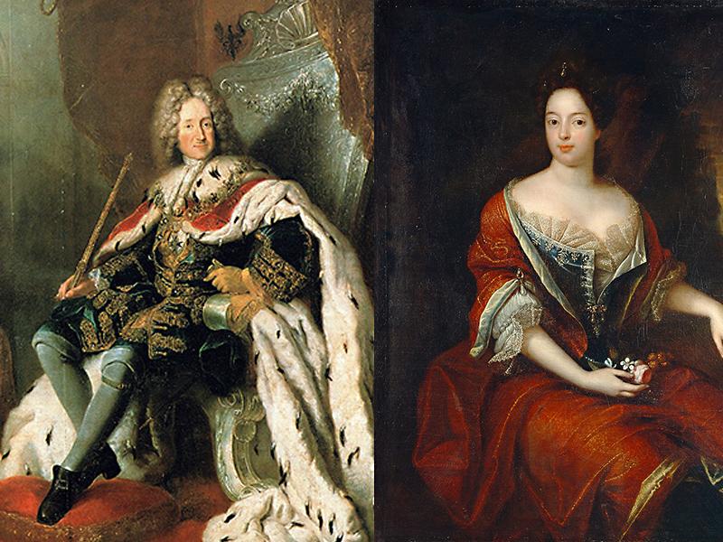 Friedrich I. und seine Gemahlin Sophie Charlotte von Hannover