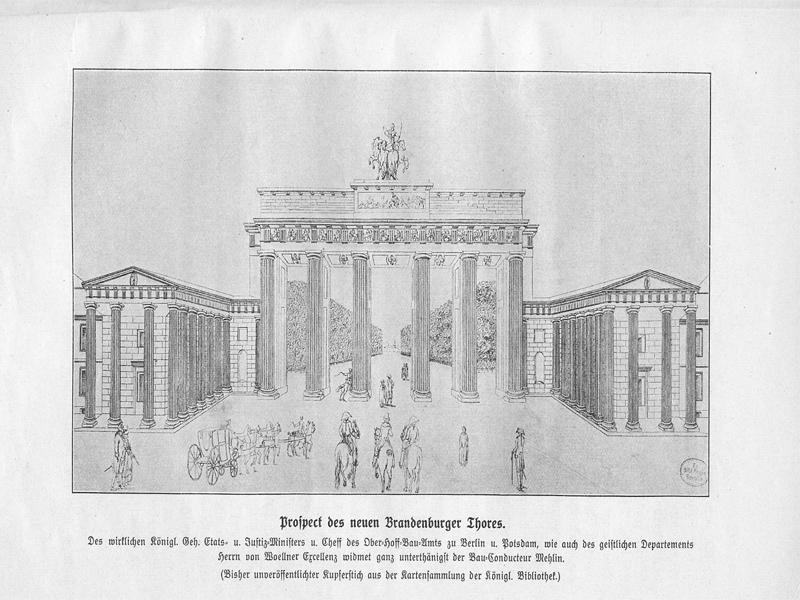 Prospect des neuen Brandenburger Tores
