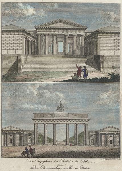 """""""Die Propyleen des Perikles in Athen"""" und """"Das Brandenburger Thor in Berlin"""